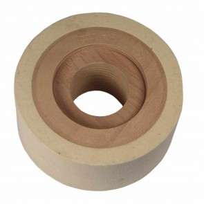 Wood & Felt Contact Wheel 3'' (75 mm) for Master Finisher or Power Finisher
